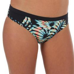 Braga Bikini Surf Ancha Roxy Master Mujer Estampado Palmeras Negro y Fluor