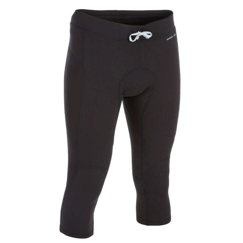 MEN SOLAR PROTECTION WEAR Surf - NEOLEGS M cropped trousers BLK OLAIAN - Surf Clothing