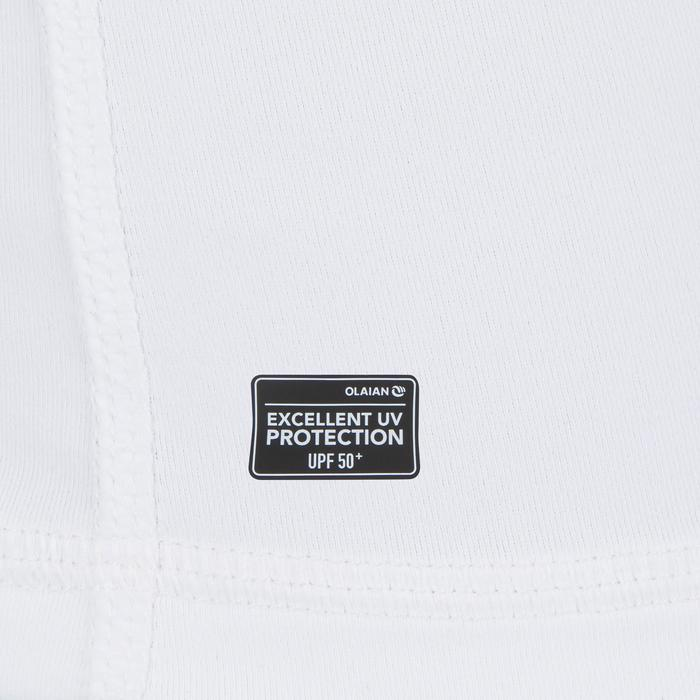 Uv-werende rashguard 100 met lange mouwen voor heren wit - 1296632