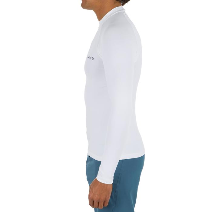 Camiseta anti-UV surf Top 100 manga larga hombre Blanco