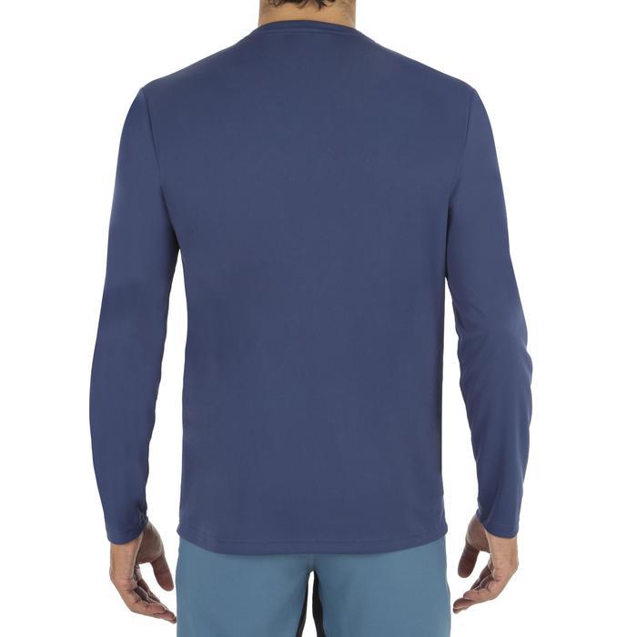 Uv-werend zwemshirt met lange mouwen voor heren, voor surfen, blauw grijs - 1296639