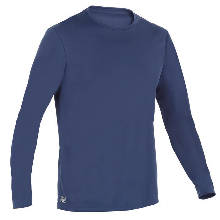 Uv-werend zwemshirt met lange mouwen voor heren, voor surfen, blauw grijs - 1296640