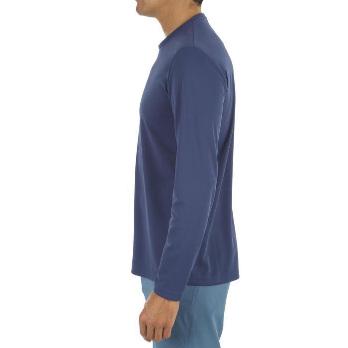 Uv-werend zwemshirt met lange mouwen voor heren, voor surfen, blauw grijs