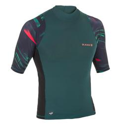 UV-Shirt kurzarm Surfen Top 500 Herren jungle