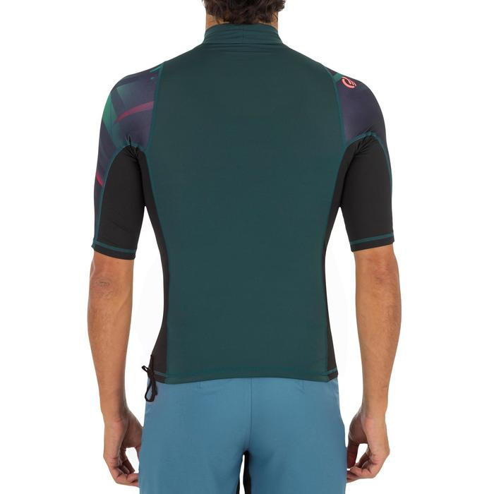 Camiseta anti-UV surf top 500 manga corta hombre jungla