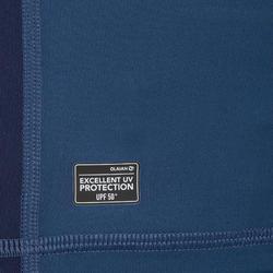 T-Shirt anti-UV surf HAUT 500 manches courtes homme bleu gris