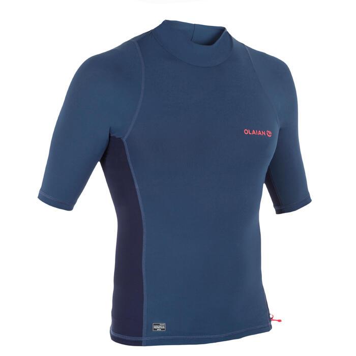 UV-Shirt Surfen Top 500 kurzarm Herren blau/dunkelgrau