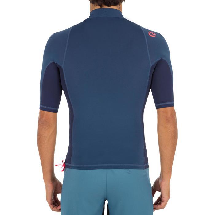Camiseta anti-UV surf top 500 manga corta hombre Azul gris
