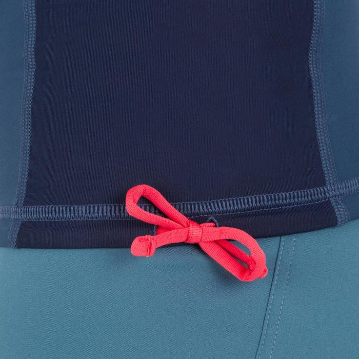 Uv-werende rashguard 500 met korte mouwen voor heren, voor surfen, blauw grijs