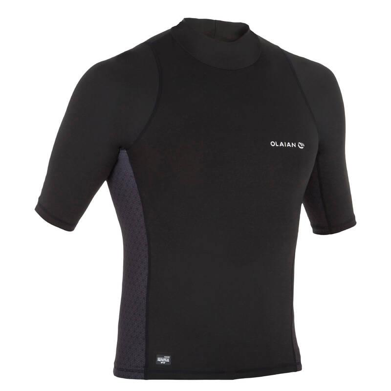 MEN SOLAR PROTECTION WEAR Surfing a bodyboard - PÁNSKÉ TRIČKO 500 S UV  OLAIAN - Plavky a trička s UV ochranou