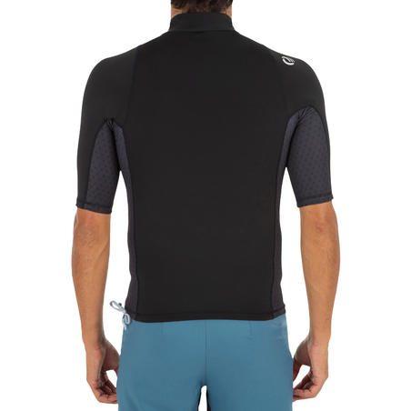 500 men's short-sleeved UV-protection surfing T-Shirt - Black