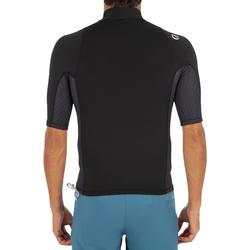UV-Shirt kurzarm Top 500 Surfen Herren schwarz