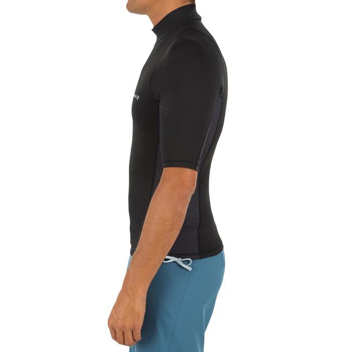 Uv-werende rashguard 500 met korte mouwen voor heren, voor surfen, zwart - 1296658