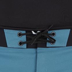 Uv-werende rashguard 500 met lange mouwen voor heren zwart grijs