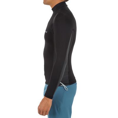 500 Men's Long Sleeve UV Protection Surfing Top T-Shirt - Black grey