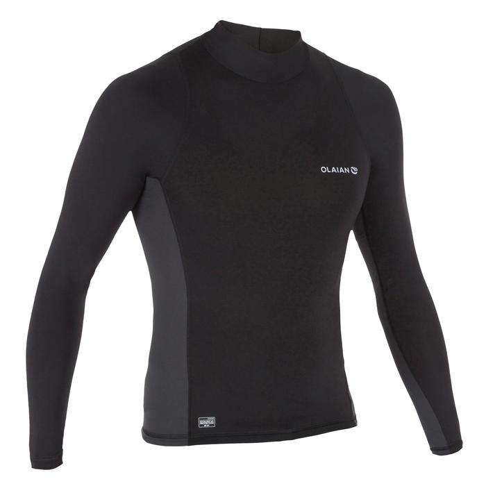 tee shirt anti uv surf top 500 manches longues homme - 1296664