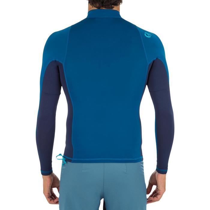 Uv-werende rashguard 500 met lange mouwen voor heren blauw