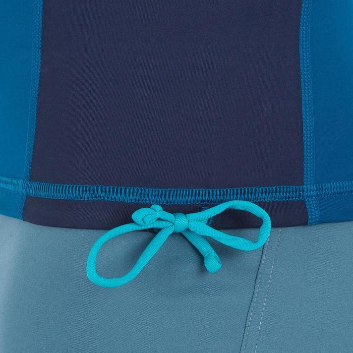 Camiseta anti-UV surf top 500 manga larga hombre azul