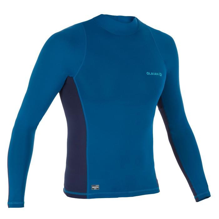 UV-Shirt langarm Surfen Top 500 Herren blau