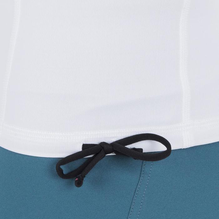 Uv-werende rashguard 500 met kap voor heren wit - 1296674