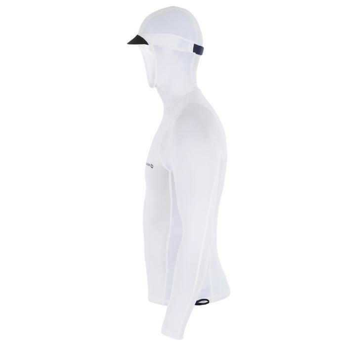 Uv-werende rashguard 500 met kap voor heren wit - 1296675