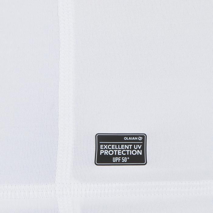 Uv-werende rashguard 500 met kap voor heren wit - 1296679