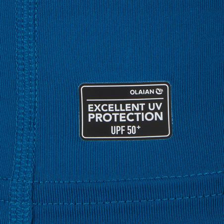 100 Men's Short Sleeve UV Protection Surfing Top T-Shirt - Blue