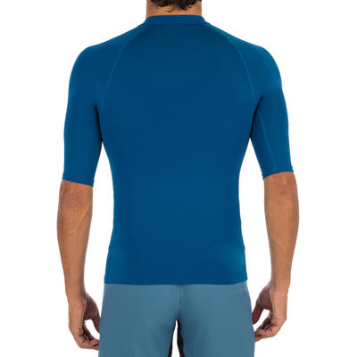 100 Men's Short Sleeve UV Protection Surfing Top T-Shirt - Blue