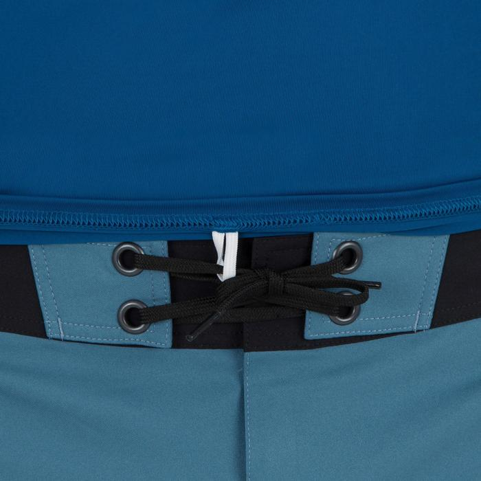 Uv-werende rashguard 100 met korte mouwen voor heren, voor surfen, blauw