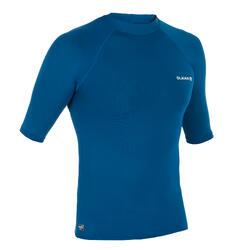 T-Shirt anti-UV surf HAUT 100 manches courtes homme bleu