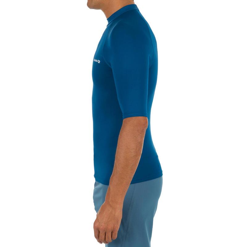 100 Men's Half Sleeve UV Protection Surfing Top T-Shirt - Blue