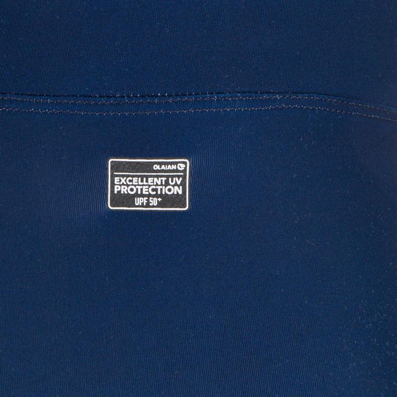 กางเกงเลกกิ้งผู้ชายมีคุณสมบัติป้องกันรังสียูวีสำหรับใส่โต้คลื่นรุ่น 100 (สีกรมท่า)