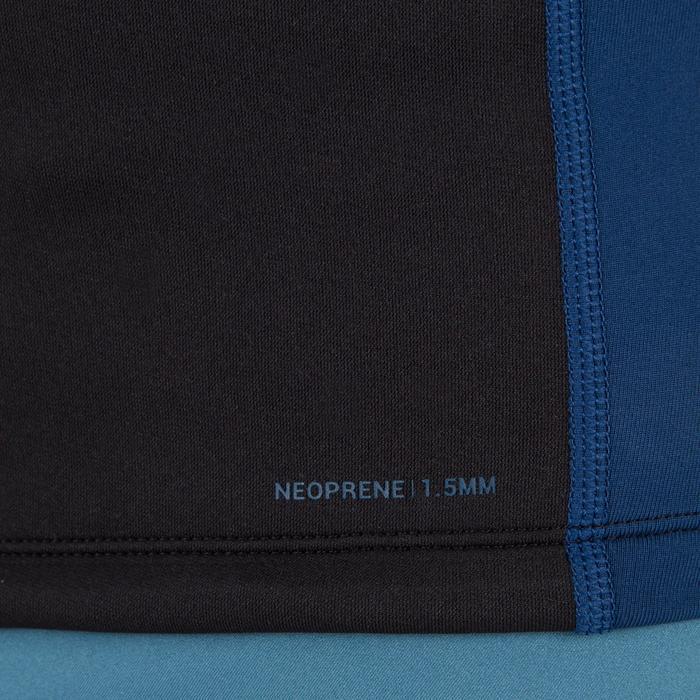 Thermische en uv-werende rashguard korte mouwen heren, neopreen en fleece, zwart