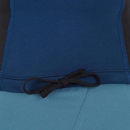 tee-shirt anti-UV surf haut néopr. polaire thermique manches courtes homme noir