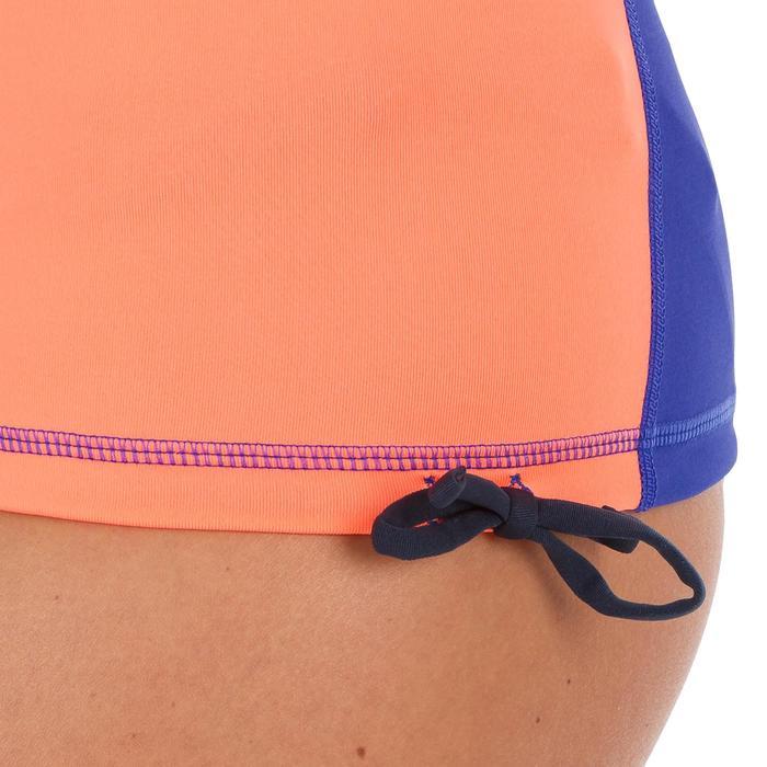 tee shirt anti uv surf top 500 manches courtes femme noir bico - 1296710