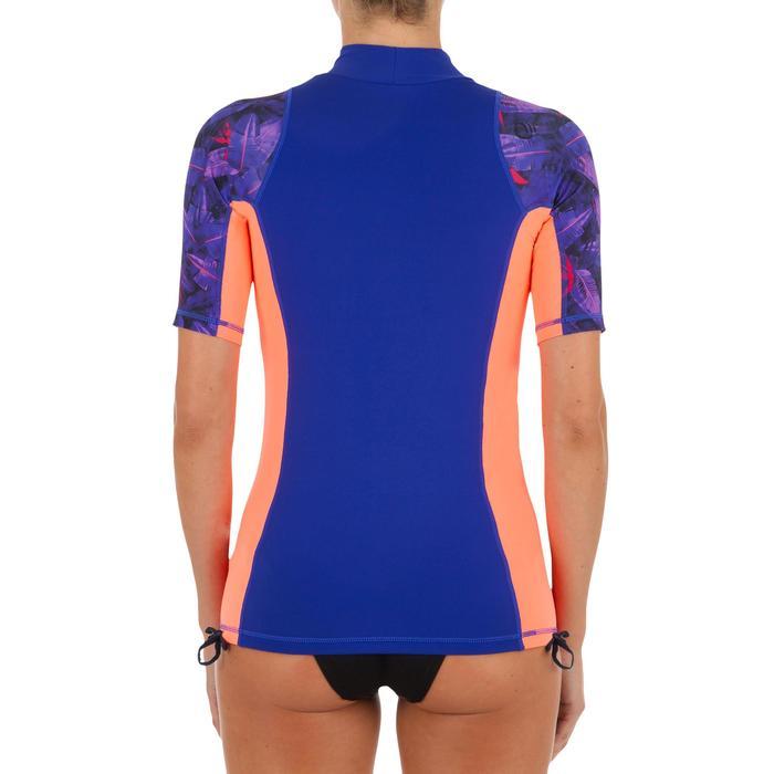 tee shirt anti uv surf top 500 manches courtes femme noir bico - 1296711