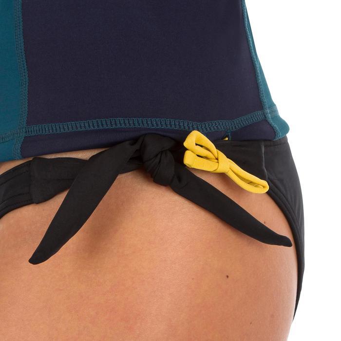 tee shirt anti uv surf top 500 manches longues femme bleu imprimé