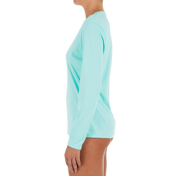 Uv-werend zwemshirt met lange mouwen voor dames, voor surfen, lichtblauw - 1296736