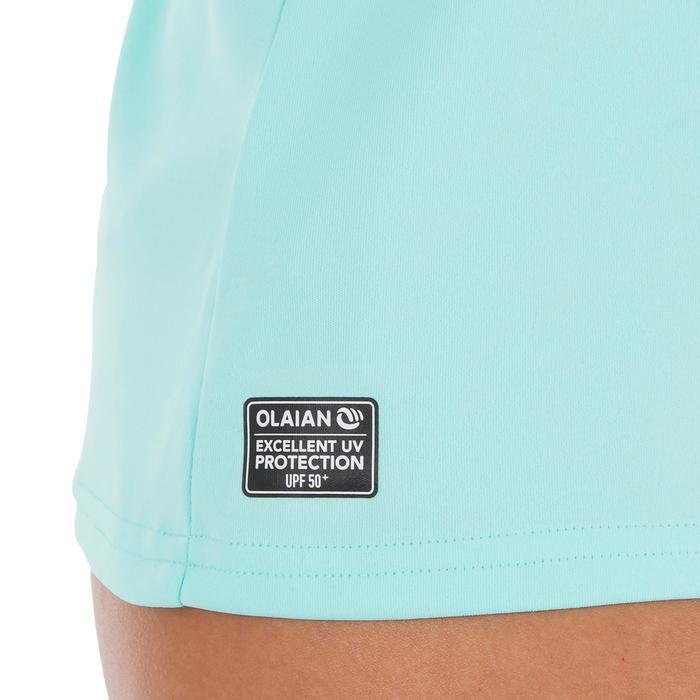Uv-werend zwemshirt met lange mouwen voor dames, voor surfen, lichtblauw