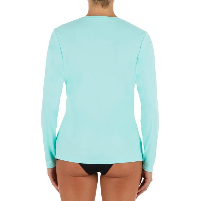 UV-Shirt langarm Surfen Damen hellblau