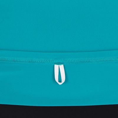 Camiseta manga corta anti-rayos UV surf Top 100 mujer Rosado turquesa