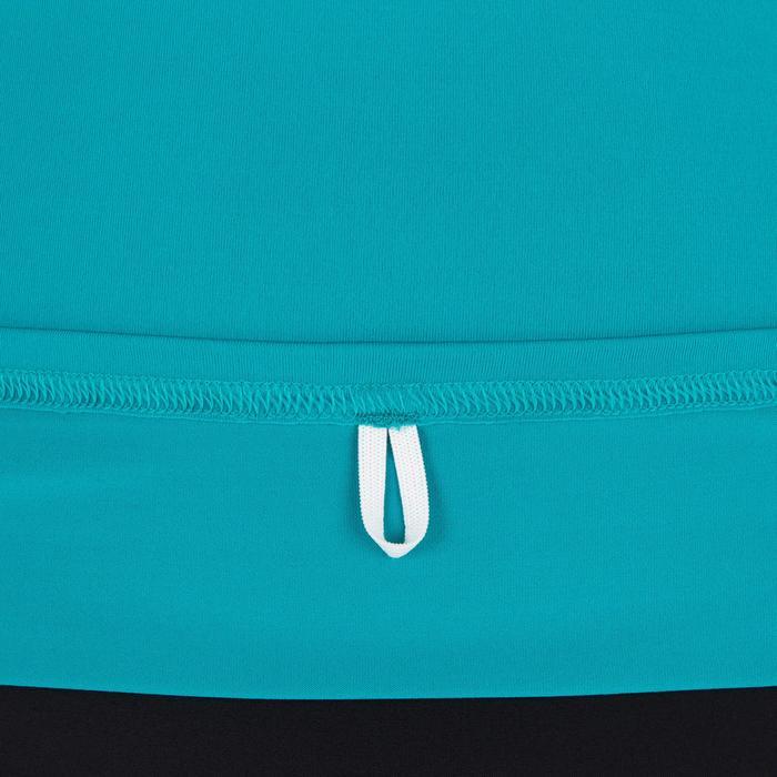 Uv-werende rashguard 100 met korte mouwen voor dames turquoise