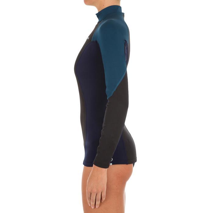 tee shirt anti UV surf top néoprène polaire manches longues femme - 1296768