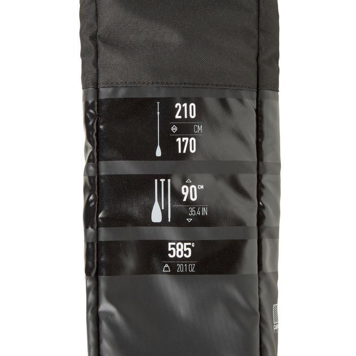Demonteerbare en verstelbare sup-peddel 900 carbon 170-210 cm zwart