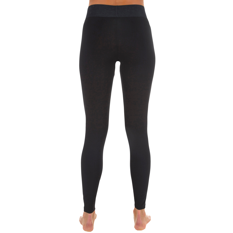 500 women's anti-UV black surfing leggings