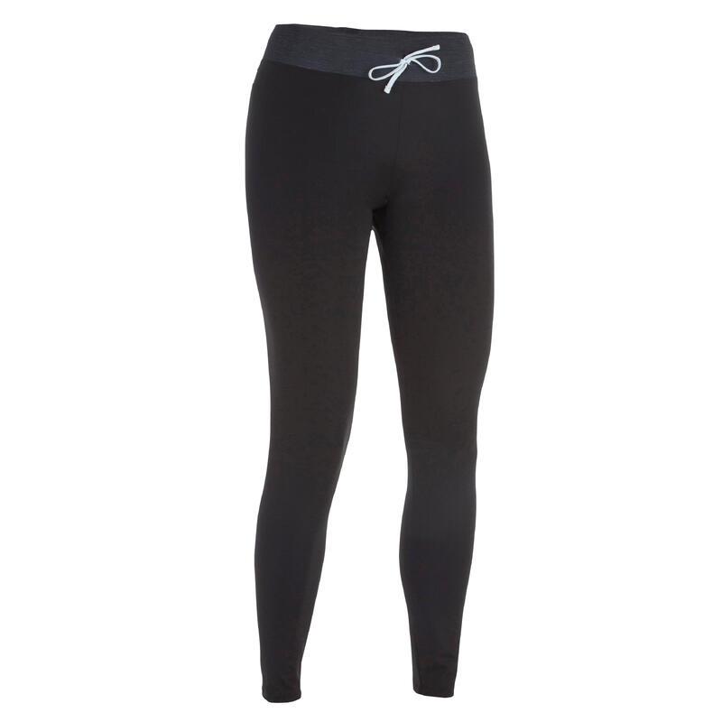 กางเกงเลกกิ้งโต้คลื่นป้องกันรังสียูวีสำหรับผู้หญิงรุ่น 500 (สีดำ)
