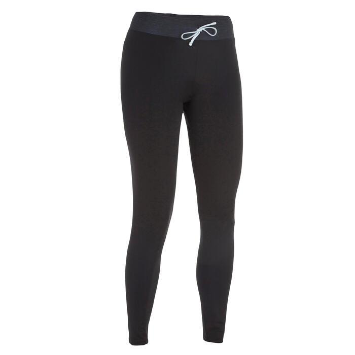 Leggings mit UV-Schutz Surfen 500 Damen schwarz