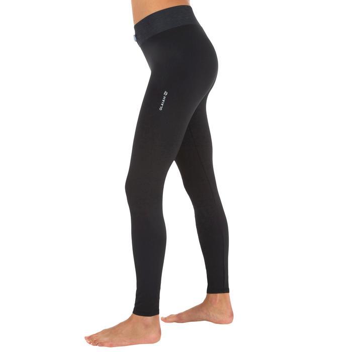 Legging anti UV surf 500 femme noir