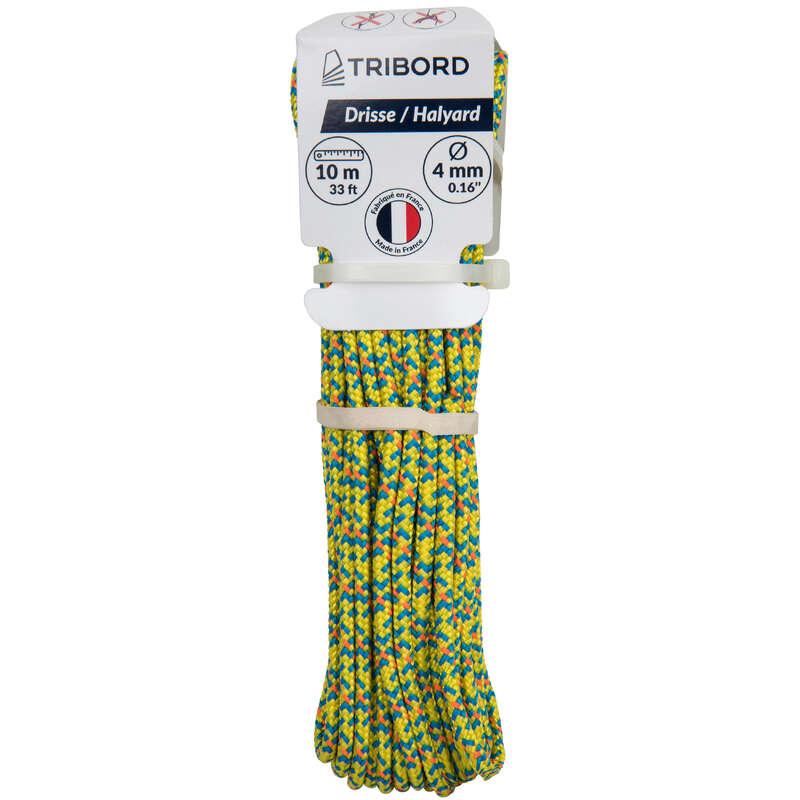 Boots-Sicherheitsausruestung Segeln - Tau Fall 4mm×10m gelb TRIBORD - Segelzubehör