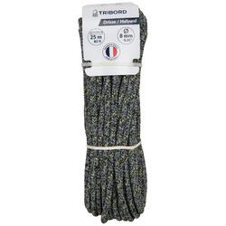 Val touwwerk boot 8 mm x 25 m grijs/zwart/geel